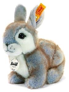 Steiff 80036 - Peluche de conejo color gris azulado de 18 cm Importado de Alemania