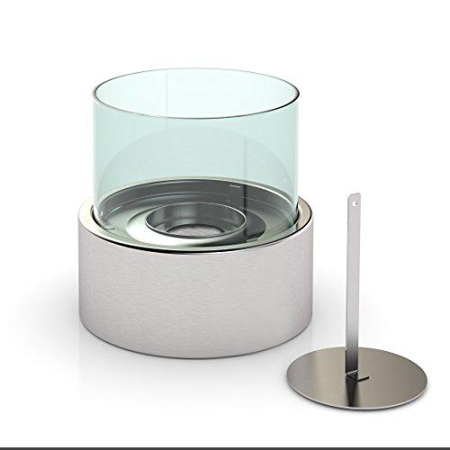 Preisvergleich Produktbild FireFriend Design Tisch-Kamin Bio-Ethanol, silber, DF-6507