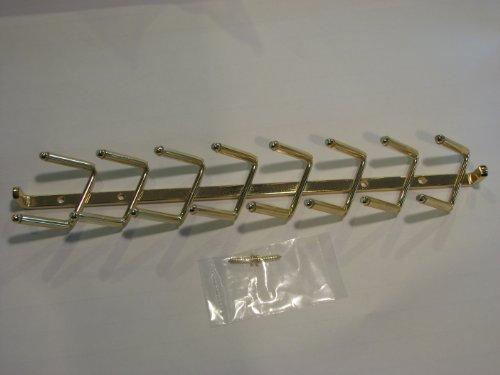 Krawattenhalter zur Wandmontage, poliertes Messing, 35,6 cm (Band Organizer Wall Mount)