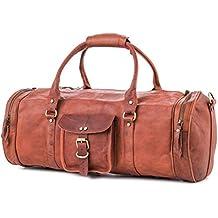 60a9dacf2dacc Berliner Bags Weekender Texas L Reisetasche Handgepäck Sporttasche aus Leder  Vintage Damen Herren Braun Rund 55