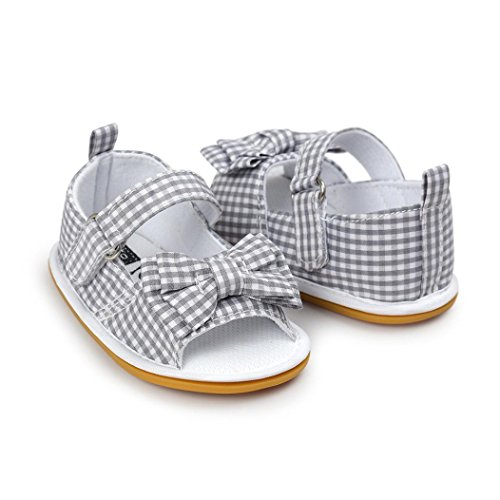 kingko® Baby Bowknot Casual Schuhe Sneaker Anti-Rutsch Soft Sole Kleinkind Gray