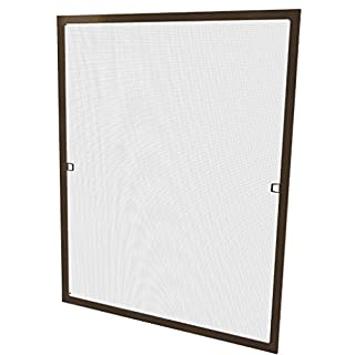 Windhager Insektenschutz Fenster AluProfi, Braun, 80 x 100 cm