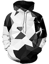 Ocean Plus Herren Kapuzenpullover Lebensecht 3D Grafik Hoodie mit  Kängurutasche Pullover mit Kapuze Sweat Hood e55e741107