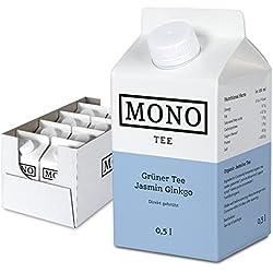 Mono Tee Bio-Eistee Grüner Tee Jasmin, 8er Pack (8 x 500ml) kalorienarm, direkt gebrüht - Ihre Alternative zu Wasser