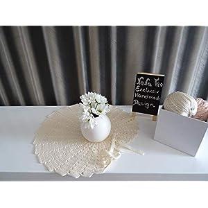 Velvet Romantic Dekoration Collection 102 (Cream) Häkeln,Skandinavisch, Shabby Chic, Landhaus, Romantische, Design Klassiker Möbel für eine Moderne Elegante Wohnung