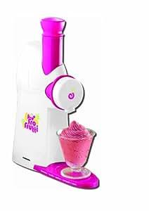 Sorbet maker machine à sorbet sorbetière crème glacée rouge et blanche pour des fruits surgelés