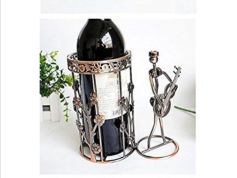 fer musique européenne casier à vin de l'homme, l'artisanat de fer, décorations maison ornements hôtel