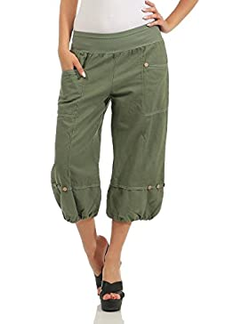 ZARMEXX Pantalones Capri de Lino de Mujer Pantalones de Verano Pantalones Básicos de Lino Knickerbocker Bermuda...
