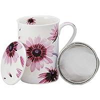 Aromas de Té - Taza de Té con Filtro y Tapa/Tisana Infusiones y tes