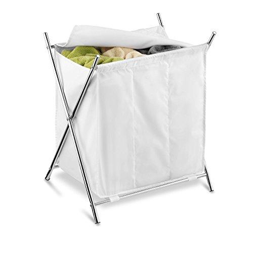 honey-can-do-hmp-01236-zusammenklappbarer-waschesammler-mit-abdeckung-und-3-fachern-stoff-verchromt-