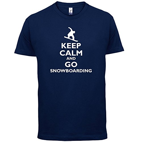 Keep Calm and Go Snowboarding - Herren T-Shirt - 13 Farben Navy