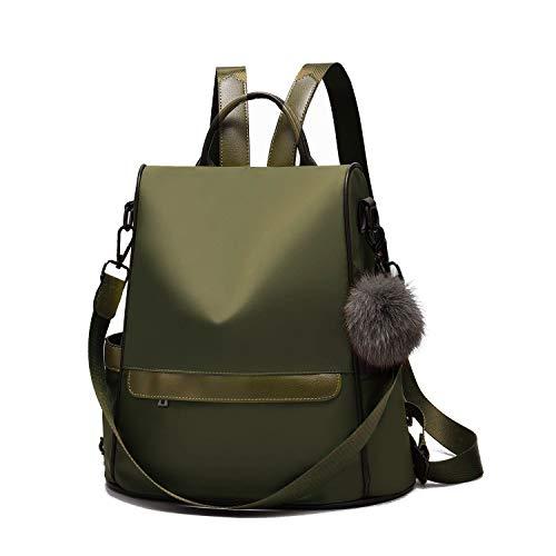 CySILI - Bolso mochila  de sintético para mujer Verde verde 12,6 * 5,5 * 12,6inch