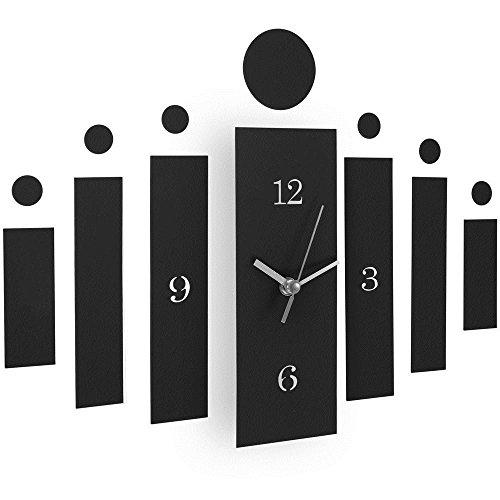 Preisvergleich Produktbild SSITG Wanduhr Wandtattoo Wohnzimmeruhr Wanduhren Säule Deko Spiegel Uhr Designer