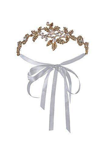 ubende Strass Hochzeit Flapper Stirnband Bänder für 1920er Party (Gold) (20er Jahre Flapper Make Up)