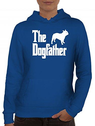 Bulldogge Dog Hund Damen Kapuzenpullover mit The Dogfather Motiv von ShirtStreet Royal Blau