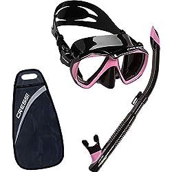 Cressi Set Ranger & Tao Dry Kits de Randonnée Aquatique Adulte Unisexe Noir/Rose, Unique