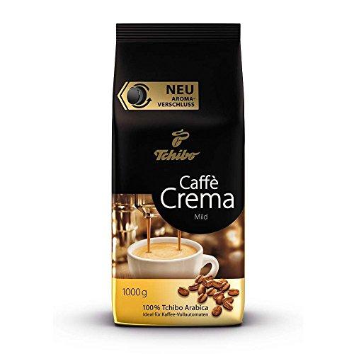Tchibo Caffè Crema Mild, 1kg ganze Bohne, Kaffee-Genuss für Vollautomaten, Siebträger