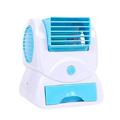 USB Office Mini Fan tragbarer Aroma USB schaufelloser Fan Mini Klimaanlage Electric Fan für Computer Tisch, Camping, Auto LKW, Caravan, Camping Auto, Büro, Tisch, Schlafzimmer, Bett (Bett Banken)