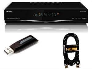 Protek 9770 HD IP numérique Récepteur satellite TVHD + 16Go USB Flash Drive + câble HDMI (successeur de 9750 9760)