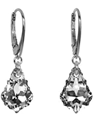 Plata pendientes Baroque 16 mm Argent con Swarovski Elements