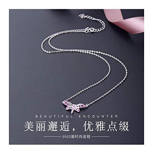 MTWTM Sterling Silber Frauen Halskette Fashion Simple Kreativ Temperament Dragonfly Retro Cute Personalisierten Schmuck