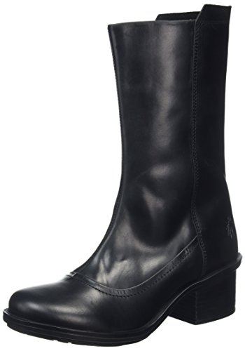 FLY London Damen Came718fly Stiefel, Schwarz (Black), 42 EU (Side Zip Stiefel Black)