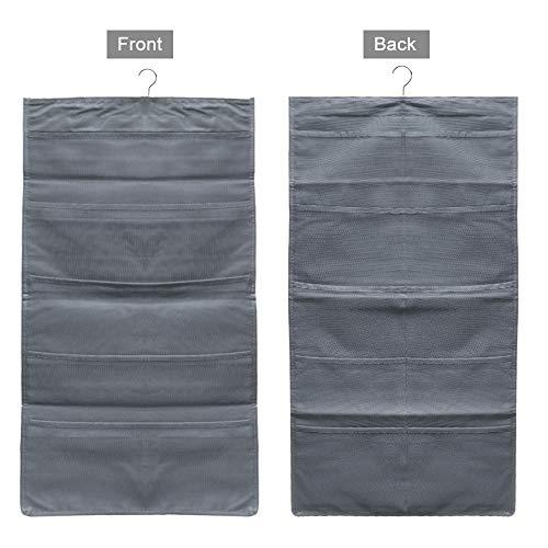 schen, beidseitig hängender Kleiderschrank, Sockenorganizer für Unterwäsche, Strümpfe, BH, Höschen und Schubladen - Grau ()