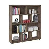 Artely Book Shelf, Cinnamon - 109 cm x 91 cm x 25 cm