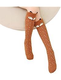 TININNA-Calcetines largos para niños (algodón, diseño de animales, altura hasta la rodilla) 1 3-12ans
