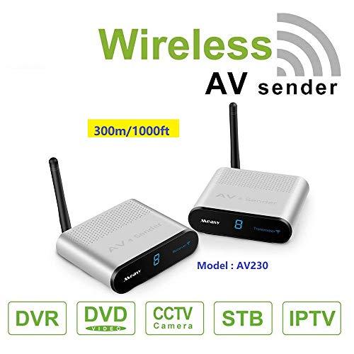 MEASY AV230 2.4ghz wifi audio video mittente transmittore e ricevitore wireless supportano 8 canali per scegliere fino a 300m / 1000 piedi,