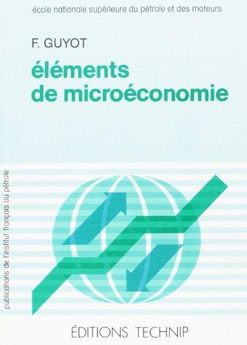 Eléments de microéconomie par F Guyot
