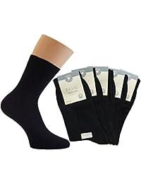 Chaussettes 100% coton pour femme (lot de 10 paires) Noir. Jusqu'à lavable à 30°C.