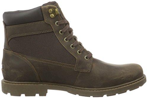Rockport Rugged Bucks Waterproof High Boot, Stivaletti Uomo Marrone (Marrone (Dark Brown))