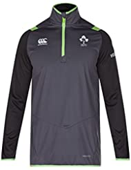 Canterbury Ireland Official 17/18 Men's Rugby Thermoreg Quarter Zip Top