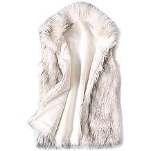 POLP Abrigos mujer Chalecos Mujer Invierno Pelo Abrigos Invierno Elegantes Chaquetas Pelo Chalecos Mujer Invierno Chaleco