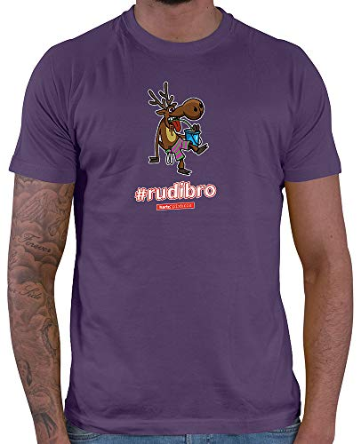 (HARIZ  Herren T-Shirt Pixbros Rudibro Xmas Weihnachten Cool Lustig Liebe Plus Geschenkkarte Lila XXL)