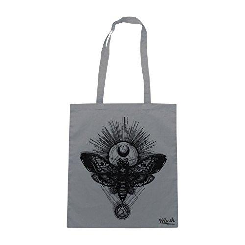 Borsa Skull Bones Butterfly - Grigia - Mush by Mush Dress Your Style