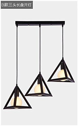 Luckyfree Kreative Modern Fashion Anhänger Leuchten Deckenleuchte Kronleuchter Schlafzimmer Wohnzimmer Küche, das Dreieck drei Head-Tray mit 7 Watt Birne (3 Light-anhänger-dreieck)