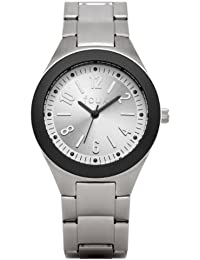 French Connection Women's Quartz Watch with Silver Dial Analogue Display and Silver Stainless Steel Bracelet FC1133SB