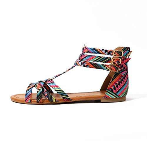 S&H-NEEDRA Frauen BöHmen Sandalen Ethno Style Sandalen Wohnungen Schuhe Schnalle Sandalen