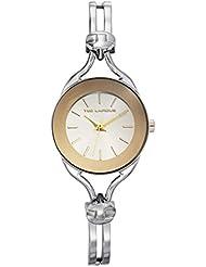 Ted Lapidus - A0525ABIA - Montre Femme - Quartz Analogique - Cadran Blanc - Bracelet Cuir Argent