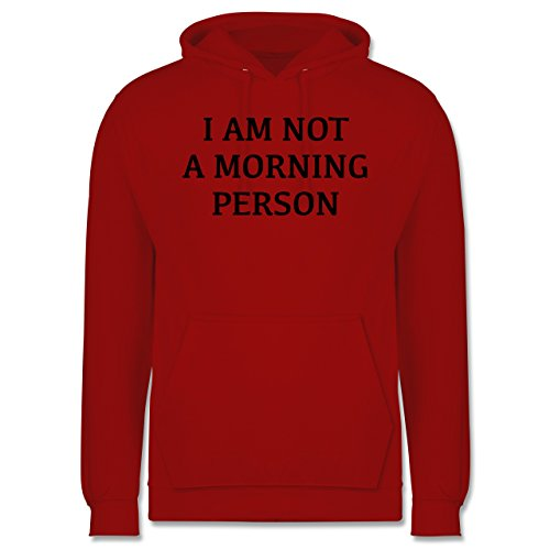 Statement Shirts - I am not a morning person - Männer Premium Kapuzenpullover / Hoodie Rot