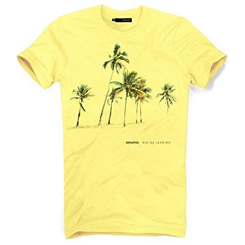 DEPARTED Herren T-Shirt mit Print/Motiv 3825-040 - New fit Größe L, Gelb -