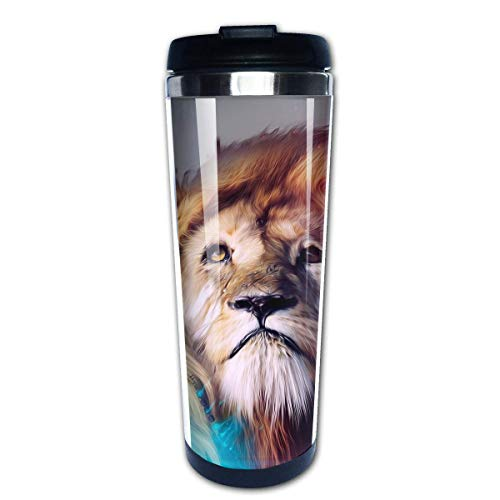 Animal King Series Lion (5) 14oz Insulated Stainless Steel Travel & Camping Mug for Beer, Cocktails, Coffee & Tea with Splash-Proof Lid for Men&Women -