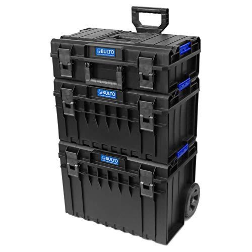 BULTO Werkzeugroller C1 BASE Werkzeugkoffer Trolley System - 3 stapelbare Boxen - Werkzeugbox Werkzeugkiste