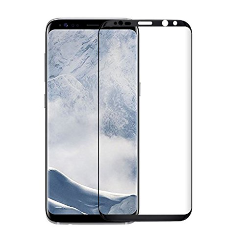 Samsung Galaxy S8 Film Protection d'écran en Verre Trempé, ViViSun Protection écran Samsung S8 en Verre Trempé noir