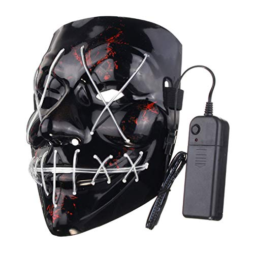 LED Light Up Flash Maske, lustige LED Leuchten -
