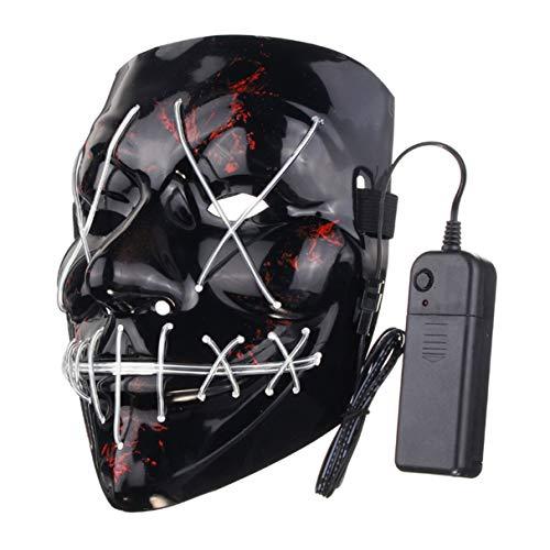 LED Light Up Flash Maske, lustige LED Leuchten Flash Maske Halloween Party Night Club Festival Männer Frauen Kostüm Cosplay LED Neuheiten Maske DJ Maske