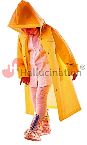 Raincoat for kids boys girls unisex yellow very soft high quality PVC