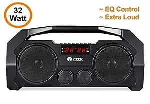 Zoook Rocker Boombox+ 32W Bluetooth Speaker with FM/USB/TF/Display/Handsfree Calling/Party Speaker (Black)